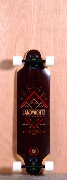 """The Landyachtz Top Speed Longboard Complete is designed for Downhill, Sliding, Cruising and Carving. Ships fully assembled and ready to skate!  Function: Downhill, Sliding, Cruising, Carving  Features: W Concave, Rocker, Wheel Cut Outs, Flared Wheel Wells  Material: 7 Ply Maple, Fiberglass Bottom, Composite Top Sheet  Length: 34.5""""  Width: 9.23""""  Wheelbase: 25.5""""  Thickness: 5/8""""  Hole Pattern: Old School  Grip: Black"""