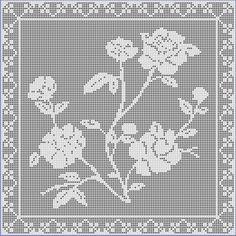 Digital PDF Filet Crochet Pattern Flowers for by CrochetMyStyle