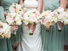 Who says a bouquet can't be a work of art? This exquisite design is guaranteed to be an unforgettable wedding memory and includes white O'Hara and pink O'Hara garden  roses , polo roses, Eskimo roses, cream Lydia spray roses, pink astilbe, white stock and accents of seeded eucalyptus.