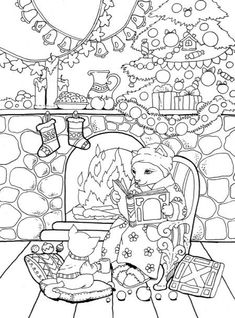 Adult Coloring Book: Nice Little Town Christmas Camping Coloring Pages, Dance Coloring Pages, Coloring Sheets For Kids, Cat Coloring Page, Adult Coloring Book Pages, Animal Coloring Pages, Free Coloring Pages, Printable Coloring Pages, Coloring Books