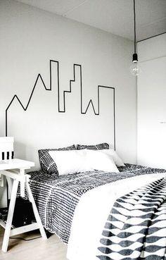 quarto meninas preto e branco