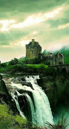 Waterfall Castle #Scotland  #castles #tourism #ghosts #waterfalls www.deadlive.co.uk