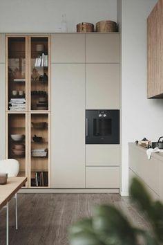Modern Kitchen Design, Interior Design Kitchen, Modern Interior Design, Interior Ideas, Interior Livingroom, Apartment Interior, Luxury Interior, Bathroom Interior, Home Decor Kitchen