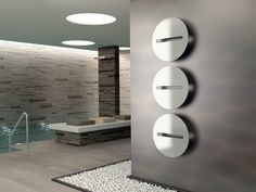 Design wall-mounted towel warmer Sfere by Cordivari Contemporary Radiators, Contemporary Bathrooms, Contemporary Interior, Modern Radiators, Minimalist Furniture, Modern Minimalist, Towel Heater, Wall Design, House Design