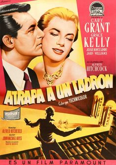 To Catch a Thief (1955) Original Linen-Backed Movie Poster from Spain