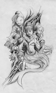 """""""Daughter of The sea-15"""" #Creative #Art in #sketching @Touchtalent"""