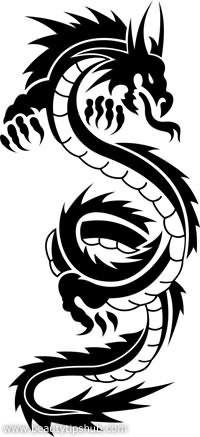 Beautiful Tribal Mermaid Tattoo Stencil Photo - Real Photo tribal dragon tattoo - Tattoos And Body Art Dragon Tattoo Art, Tribal Dragon Tattoos, Dragon Tattoos For Men, Dragon Tattoo Designs, Tribal Tattoo Designs, Tattoos For Guys, Design Tattoos, Tribal Tattoos With Meaning, Dragon Artwork