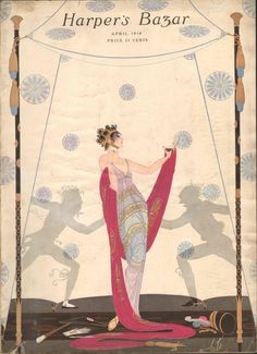 Harpers Bazar (Harper's Bazaar)  April 1918 (Magazine), de Tirtoff, Romain (Erte), et al.
