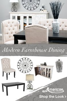 Be inspired by the latest styles at American Furniture Warehouse! Shop this Modern Farmhouse Dining Room look at any of our 14 locations in Colorado or Arizona or shop AFW.com. Living Room Decor, Bedroom Decor, Latest Styles, Cottage Living, Home Decor Inspiration, Decor Ideas, Home Staging, Apartment Living, Cool Furniture