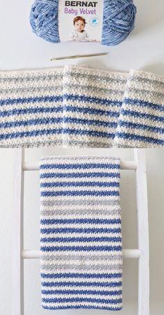 Free Crochet Blanket Pattern – Cuddly Stripes Baby Blanket Free Crochet Blanket Pattern – Cuddly Stripes Baby Blanket,Crochet Free Crochet Blanket Pattern – Cuddly Stripes Baby Blanket There are images of the best DIY. Boy Crochet Patterns, Baby Afghan Crochet, Manta Crochet, Crochet Daisy, Crochet For Boys, Free Crochet, Baby Boy Blankets, Knitted Blankets, Baby Knitting