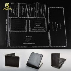 WUTA Leather Craft Classic Wallet Acrylic Template Cutting Tools Pattern Set Clear Model for DIY Making Short Wallet Purse Create Business Cards, Elegant Business Cards, Custom Business Cards, Diy Wallet Mens, Acrylic Set, Clear Acrylic, Leather Wallet Pattern, Id Card Template, Thing 1