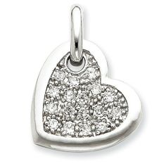 Sterling Silver Cz Heart Pendant Shop4Silver. $39.68. Approximate Width: 20 MM (0.78 INCHES). Approximate Length: 27 MM (1.05 INCHES). Save 66% Off!
