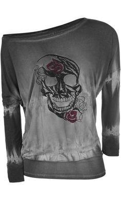 Skull Batik Longsleeve Top ~ Emp