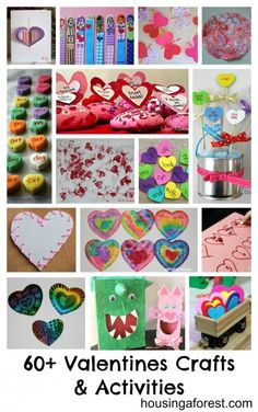 60+ Valentines Crafts and Activities ~ broken down by category.  Crafts, art, activities, science, recipes...
