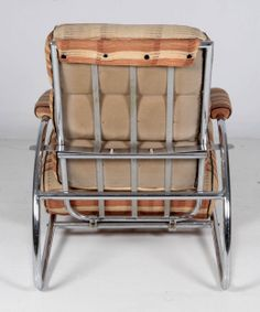 "Gilbert Rohde / Troy / Dorothy Liebes ""Trees Family"" American Art Deco adjustable lounge chair and ottoman c. 1934 