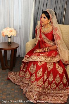 Glamorous indian bride wedding style https://www.maharaniweddings.com/gallery/photo/153855
