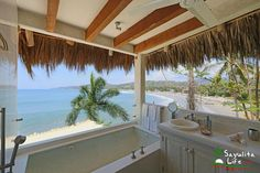 Villa Amor in Sayulita Mexico - Check out the view from this bathroom..Villa Cinema