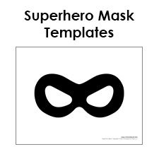 Free printable superhero mask templates for superhero birthday party. Download these free DIY superhero mask craft for your next party or event.
