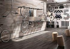 Pavimento o revestimiento Treverkage Antracite 10x70 cm Brick Marazzi Italian Ceramiche Tienda Online Amado Salvador