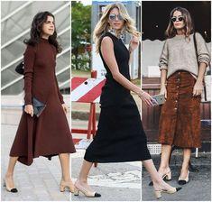 Chanel Shoes Slingback Two-Tone -Leandra Medine, Helena Bordon, Sara Escudero