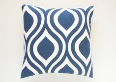 Navy Throw Pillow Cover. Choose from 12 Sizes. by thebluebirdshop, $14.00