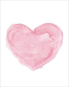 Watercolor Painting Pink Heart Art 810 Art Print from Original Painting Pink Nursery Decor Pink Nursery Art Pink Wall Decor Pink Art Watercolor Heart, Watercolor Print, Watercolor Paintings, Original Paintings, Pink Painting, Textured Painting, Heart Painting, Nursery Art, Nursery Decor