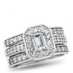 West End, 14K White Gold Diamond Bridal Set, 2.00 ctw. - by Samuels Jewelers