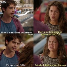 "#TheFosters 3x05 ""Going South"" - Callie and Brandon"