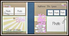 Just Crazy Blessed - Giggles & Grins CTMH Cricut Artbooking Pre-Cut Layout Kit using Close to My Heart Sarita, Lucy, & Dotty for you Paper Kits!