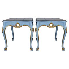 French-Style  Painted Side Tables, Pair $1,695.00