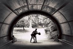 #Romance can sweep you #offyourfeet. ::Amber + Chas's engagement in New York:: #gorgeous #stunning #engagementphotography #tunnel #blackandwhite #bw #amazing #portraiture #photography