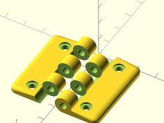 Nice simple hinge for the acrylic door of my Lulzbot Mini enclosure.