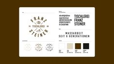 Für die Tischlerei Franz Steiner entwickelten wir ein Corporate Design – ganz im hölzernen Stil 🤓 #nicetomoveyou #branding #corporatedesign #logodesign #logo #marketing #movemusbrandpositioning Logodesign, Corporate Design, Marketing, Carpentry, Brand Design, Branding Design