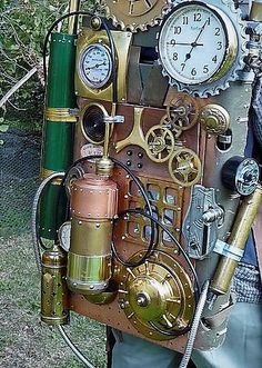 Steampunk Portable Time Machine Backpack.