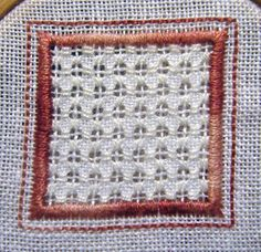 Whitework Embroidery - Framed Cross Filling Stitch