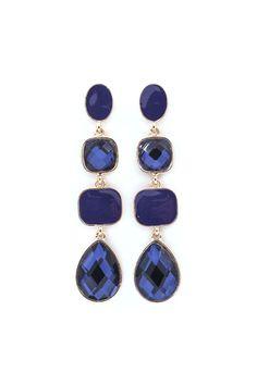 Jenna Earrings in Sapphire