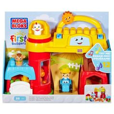 Mega Bloks First Builders Bobby Barn Musical Farm * You can find out more details at the link of the image. Building Sets For Kids, Building Toys, Lego, Toy Barn, Farm Toys, Farm Birthday, Kits For Kids, Pretend Play, Toy Store