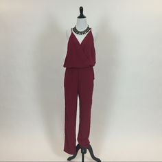 """Selling this """"Burgundy Wrap Top Jumpsuit"""" in my Poshmark closet! My username is: triplyksis. #shopmycloset #poshmark #fashion #shopping #style #forsale #Eight Sixty #Pants"""