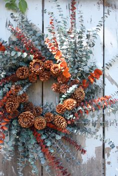 pinecone and eucalyptus wreath :)