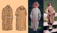 French Seam, Dress Backs, Apron, Duster Coat, Children, Patterns, Jackets, Dresses, Design