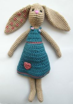 Tilda-inspired bunny - Crochet creation by Cute and Kaboodle