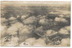 Hafen von Libau mit Bremen, Augsburg, Lubeck. Postcard.
