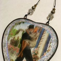 Fifties 50s Advertisement, Sweetheart, Just Married Ornament - Wedding Christmas ornament