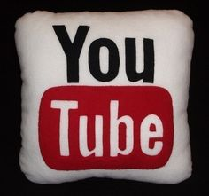 YouTube Pillow by iconpillows on Etsy, $21.99