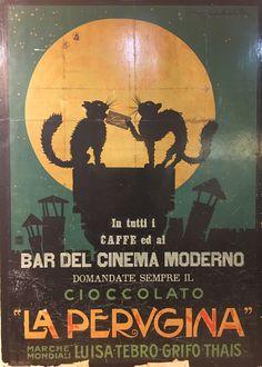 Candy Chocolate Cats Cioccolato La Perugina Vintage Poster Repro FREE SH in USA