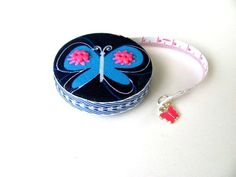 Tape Measure with Butterflies Measuring Tape by AllAboutTheButtons
