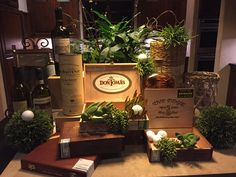 Whiskey and cigar bar for 60th Birthday party