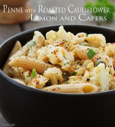 Penne with Roasted Cauliflower, Lemon and Capers