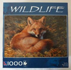 Wildlife Red Fox Art Jigsaw Puzzle - Joni Johnson-Godsy - 100% Complete Fox Art, Red Fox, Jigsaw Puzzles, Wildlife, Animals, Ebay, Vintage, Scrappy Quilts, Pictures