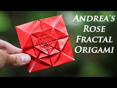 (13) Origami Fractal - Andrea's Rose Tutorial - YouTube